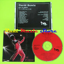 CD DAVID BOWIE Live in japan 1993 italy BEECH-MARTEN CD 011(Xs5) lp mc dvd vhs