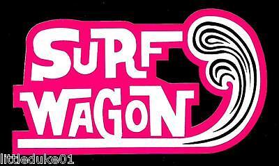 SURF WAGON Vinyl Sticker Decal Longboard Surfing Surfboard Rat Fink VW Ford SURF