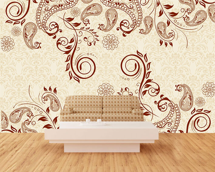 3D Curled pattern 476 Wall Paper Print Wall Decal Deco Indoor Wall Murals