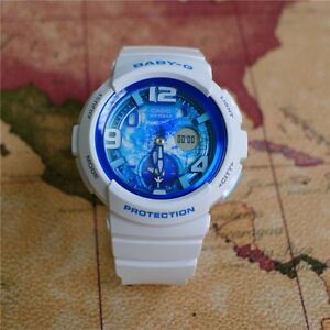 BGA-190GL-7B-White-Casio-Baby-G-Lady-039-s-Digital-Analog-Watches-New