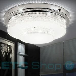 Design led decken leuchte esszimmer dielen kristall effekt for Esszimmer leuchte kristall