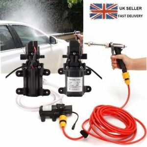 Portable 12V Car High Pressure Washer Water Pump Kit  Wash Cleaner Hose Van