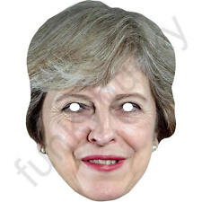 Theresa May Version 2 Politician Celebrity Card Mask Masks Pre Cut With Elastic