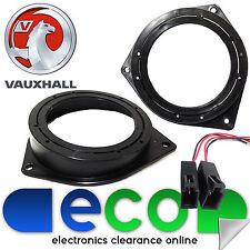 """Vauxhall Corsa C 2000-2006  5.25"""" 13cm Front Door Speaker Brackets Rings & Wires"""