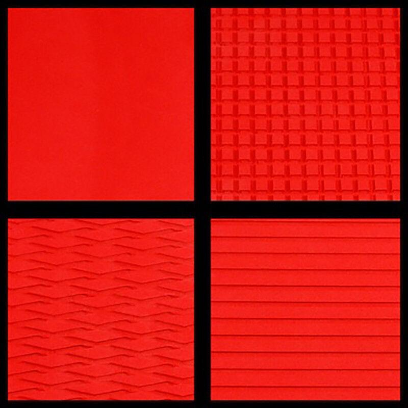 Hydro-Turf auf Lager - Blatt Material Material Blatt - Rot Abschalten Groove - Ready2Ship e14267