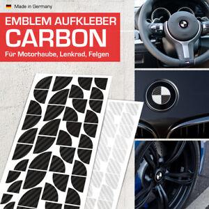 Carbon Schwarz + Silber Emblem Aufkleber Ecken für BMW F10 5er, F11 5er, F12 6er