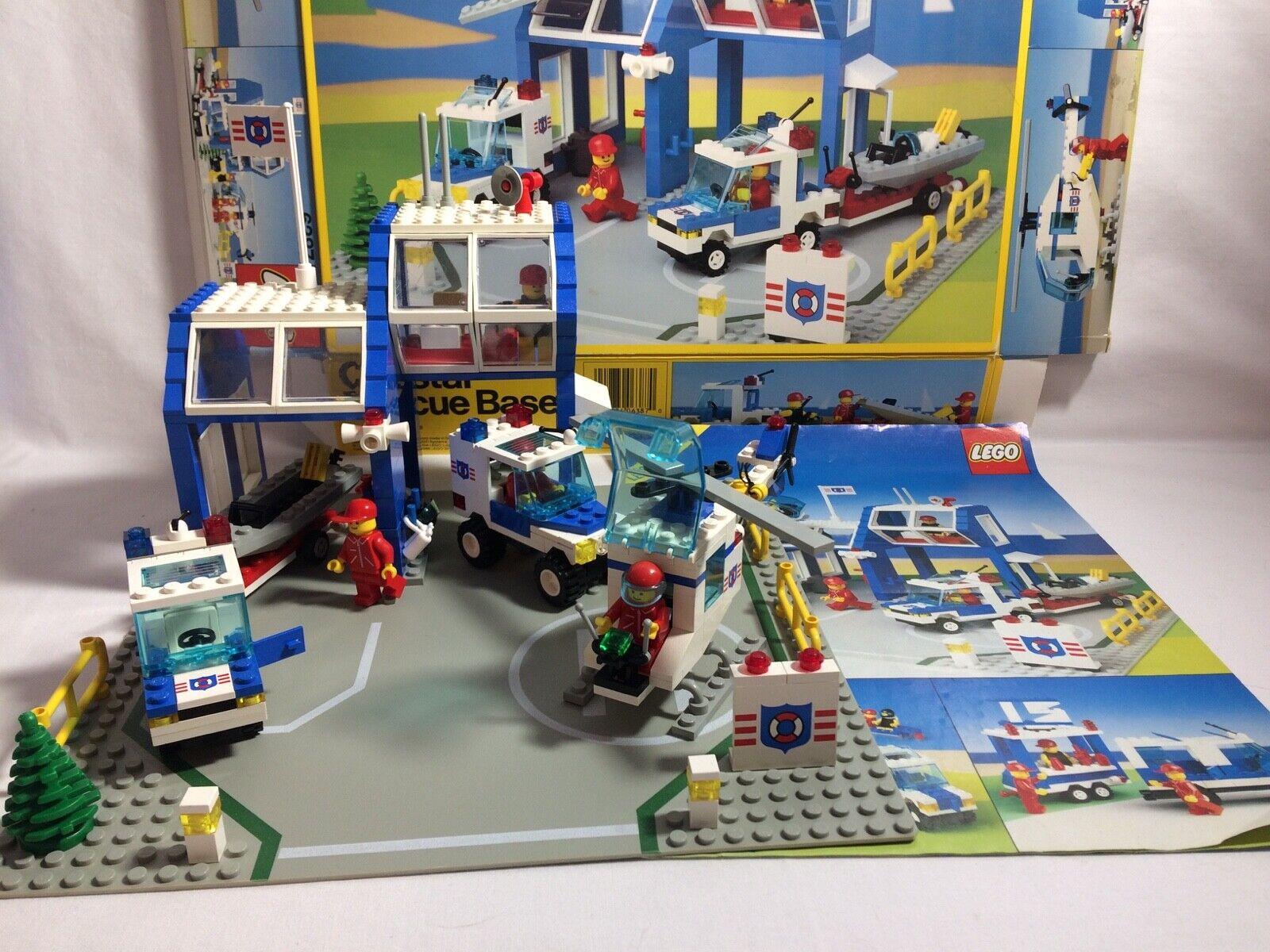 Vintage Lego Coastal Rescue Base  6387 Complete Instructions Box