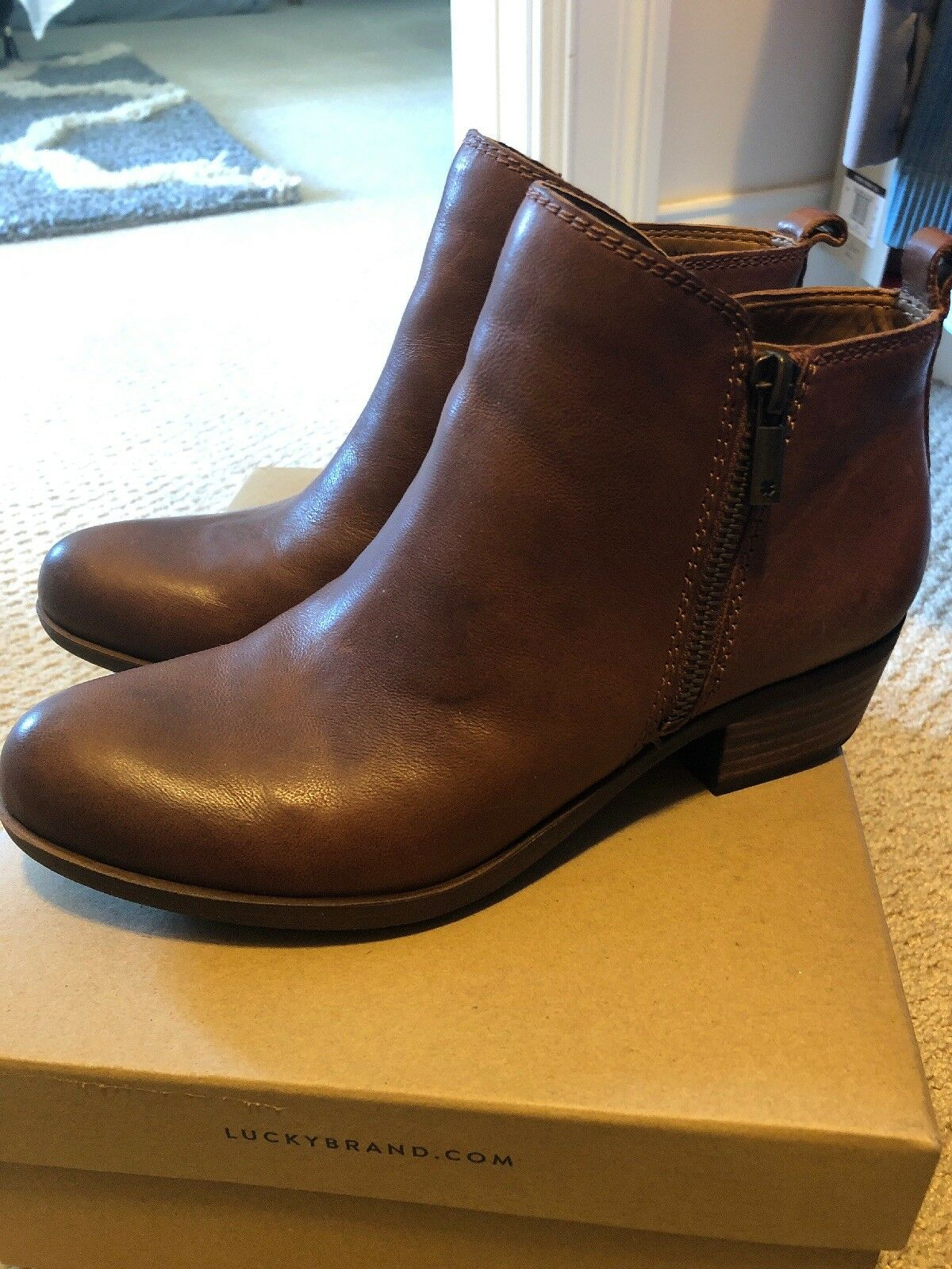 New Lucky Brand Basel Booties Boots Toffee 7m
