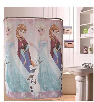 Disney Frozen Elsa Anna Olaf Bathroom Shower Curtain Polyester 180cm X