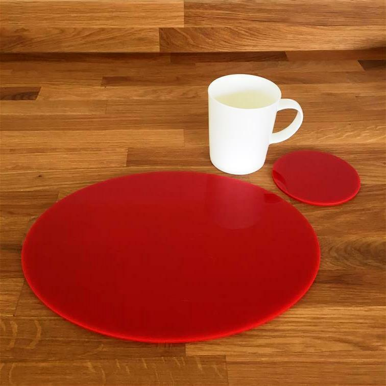 rot Gloss, Oval Placemats & Round Coasters, Easy Wipe Clean, Sets 4 6 8