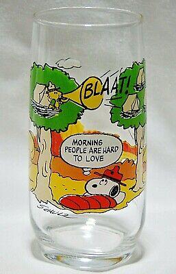 Vintage McDonalds Glass Camp Snoopy Peanuts 1965 Woodstock Snoopy Charlie Brown