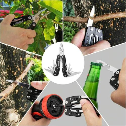 Portable Multi Tool 14in1 Pliers Outdoor Camping Survival Pocket Stainless Steel