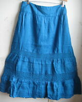 J.jill Skirt Linen-and-lace 24w $139 Cyan
