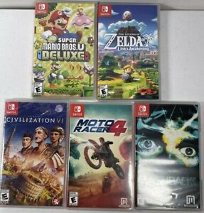 Nintendo-Switch-Games-Lot-Of-5-Zelda-Mario-Sid-Meier-Moto-Racer-Flashback