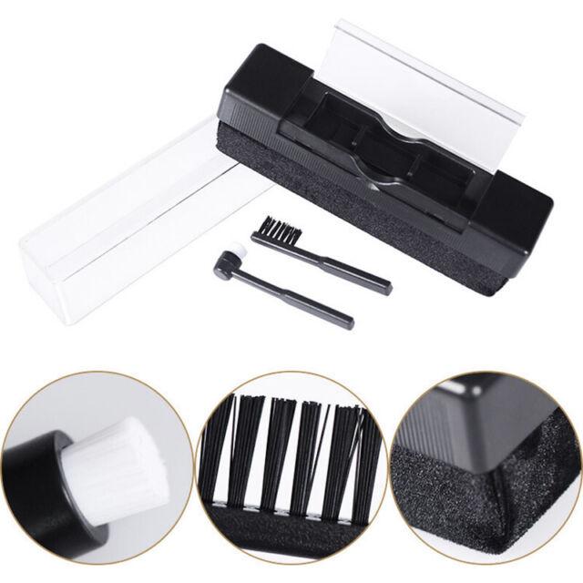 Vinyl Record Cleaning Brush Set Stylus Velvet Anti-static Cleaner Kit Tool 2in1
