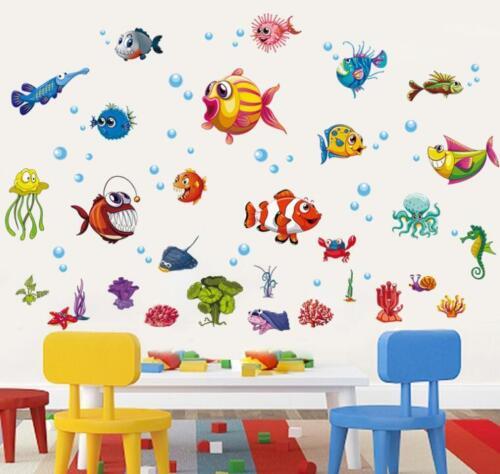 Wall Sticker Fish Nemo Ocean Sea life Tattoo Art Decal Home Decor Kid Room Child