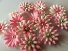36 EDIBLE CAKE CUPCAKE TOPPERS DECORATIONS BIRTHDAY WEDDING 2.5CM DAISY FLOWER