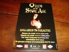 QUEENS OF THE STONE AGE !!!!!!!!RARE FRENCH PROMO FLYER