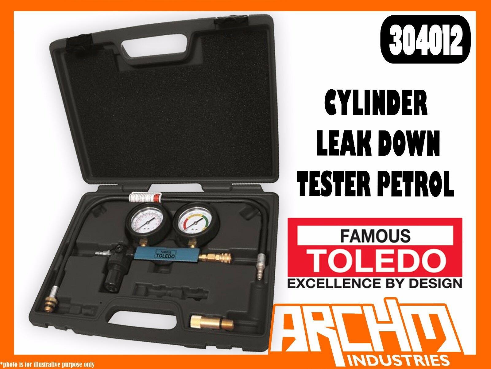 TOLEDO 304012 - CYLINDER LEAK DOWN TESTER TESTER TESTER PETROL - ENGINE COMBUSTION PRESSURE 5d55d7