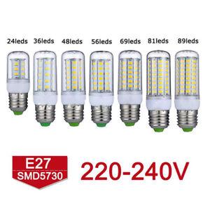 E27-E14-B22-G9-GU10LED-Mais-Ampoule-5730-Chaud-SMD-Blanc-Froid-360-Lamp220V