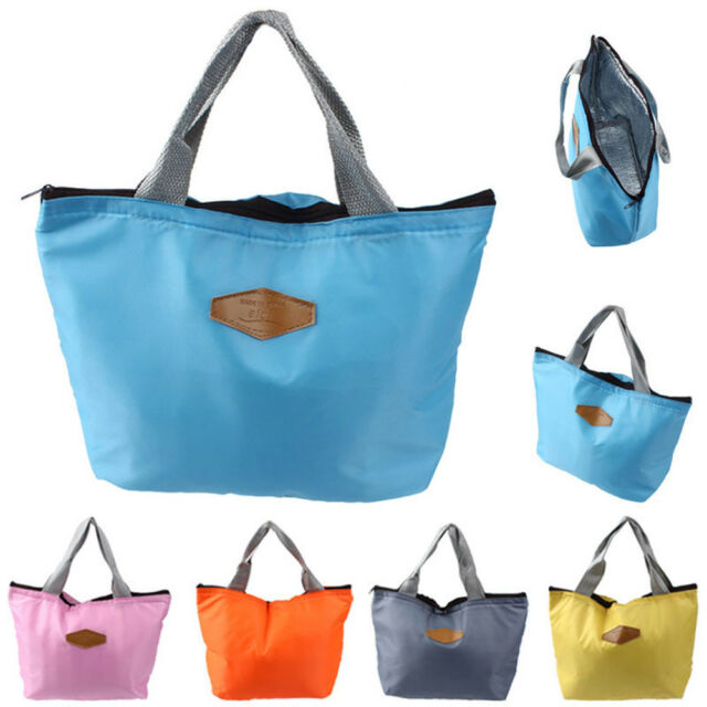 Women Men Kids Tote Lunch Bag Pouch Food Storage Cooler Picnic Lunch Box