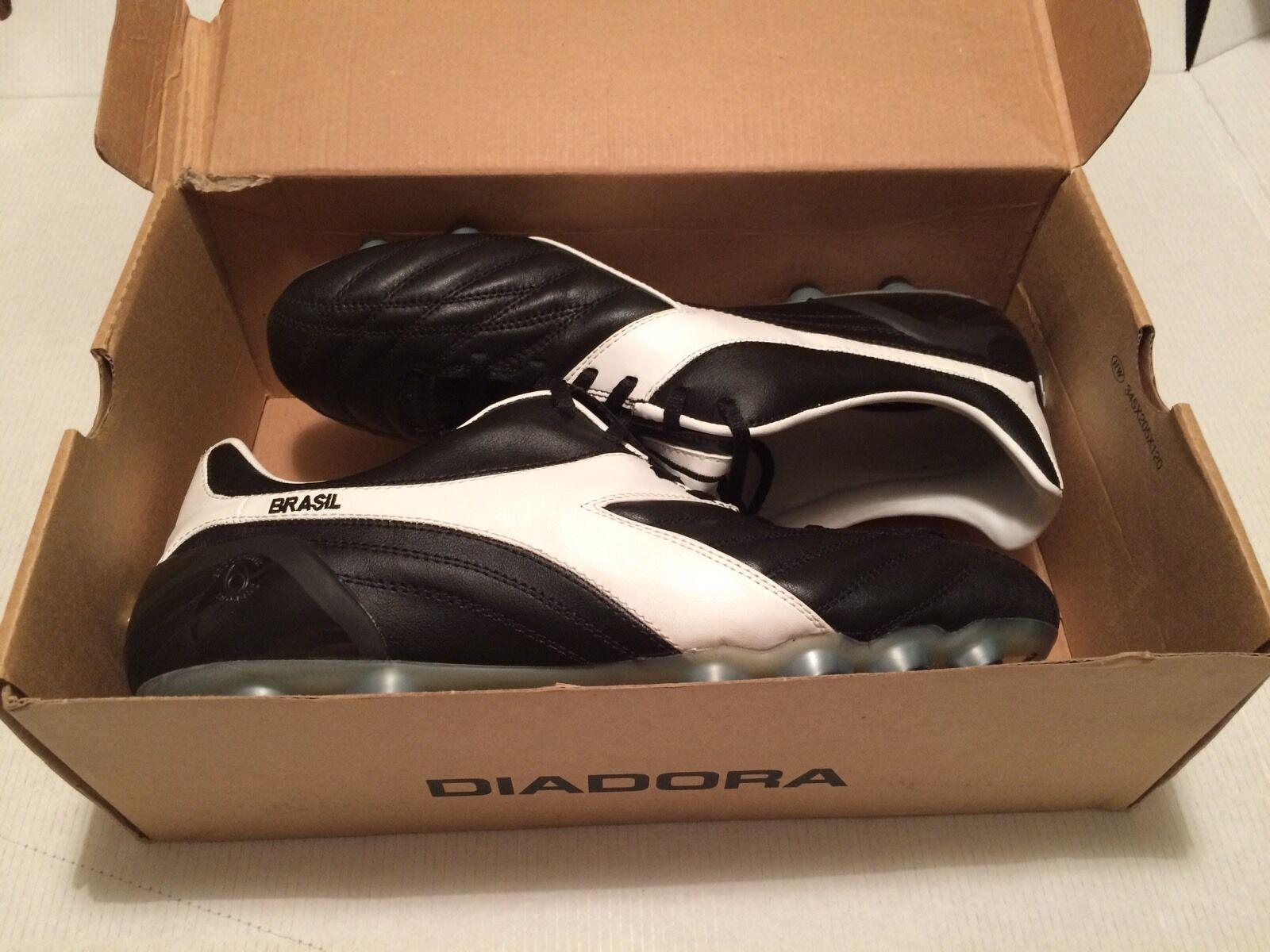 Diadora Brasil AX MD 2E Ancho Ajuste botas De Fútbol Con Tapones Fg Moldeado Reino Unido 11.5