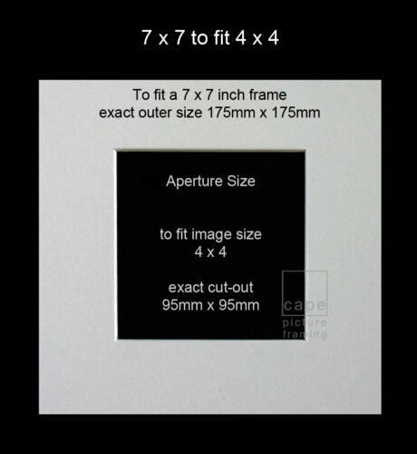 Picture//Photo Mounts+BacksSize 7x7Square~Instagram~Bevel Cut~All Colours