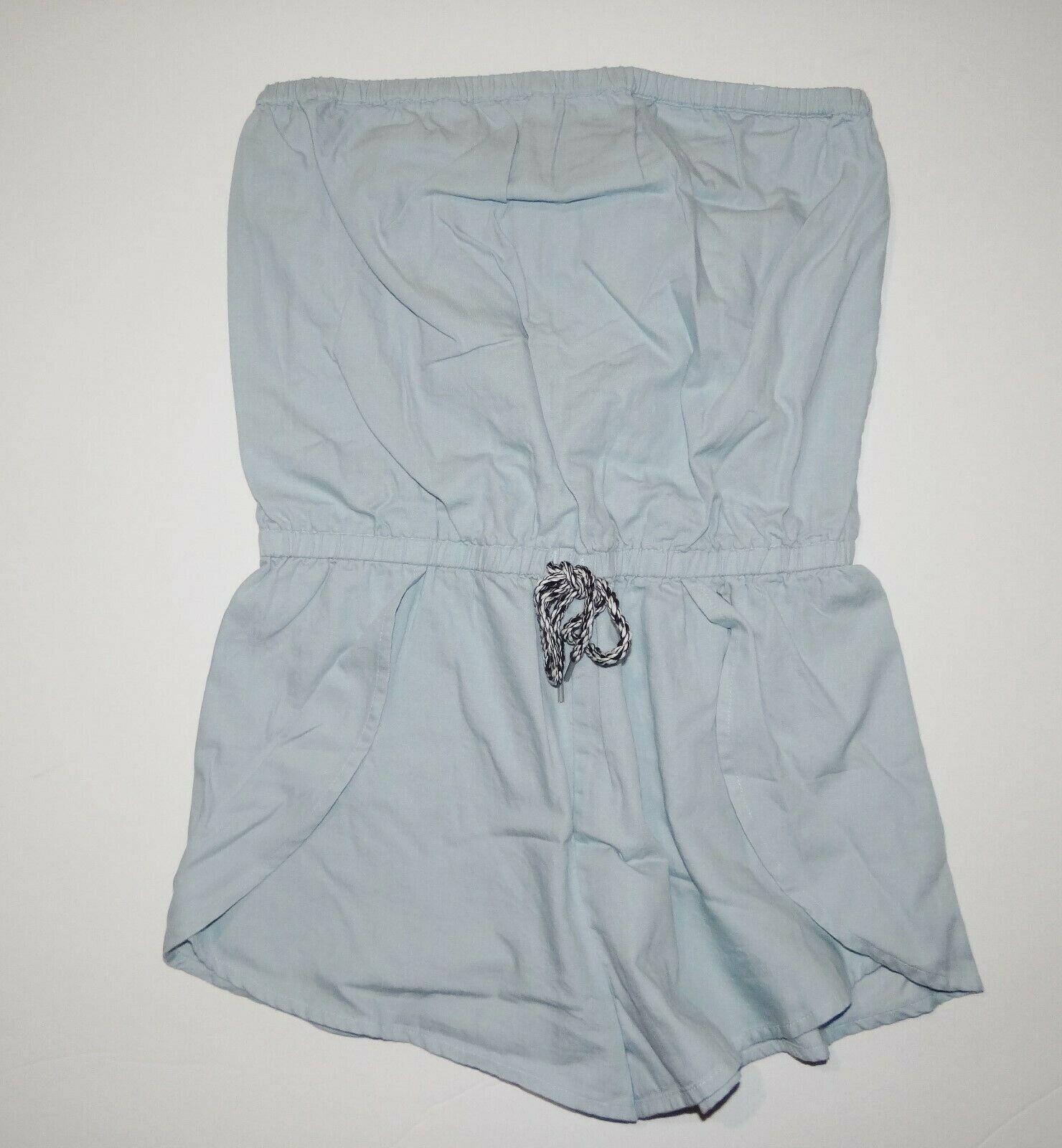 New Vans Womens Mars Cotton Denim Romper Shorts Size Small