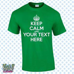 0a31a2ab Shirts & Hemden Herrenmode KEEP CALM & CARRY ON Custom Men's T-shirt-CHOOSE  OWN ...