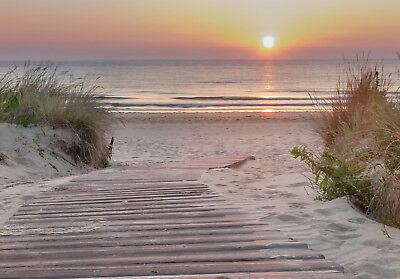 Einfach Vlies Fototapete-dÜnen-(13048)- Meer Beach Küste Nordsee Ostsee Wolken Sylt Gras