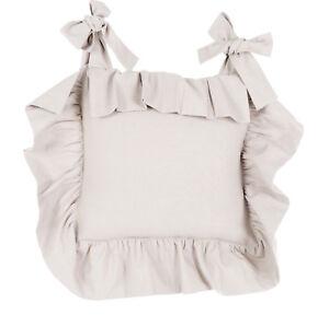 Blanc Mariclo Basic Sand Stuhlkissenbezug Shabby chic Landhaus ...