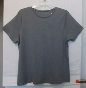 Croft-amp-Barrow-Heather-Gray-knit-top-short-sleeve-Plus-Sizes-1X-2X-3X-NWT