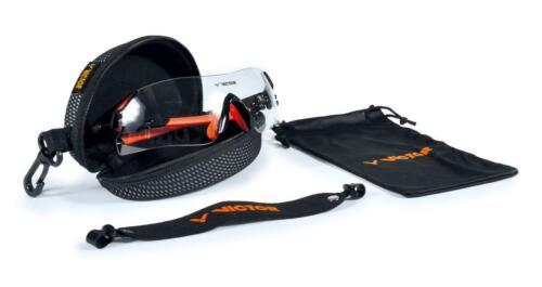 VICTOR Schutzbrille Squash Goggle Arbeit Radsport onesize schwarz orange Band
