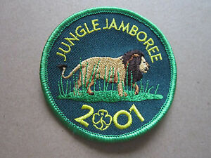 Jungle-Jamboree-2001-Girl-Guides-Woven-Cloth-Patch-Badge
