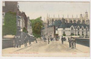 Berkshire postcard - Eton College from Barnspool Bridge, ETON - P/U (A174)
