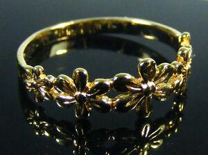 DAMEN-RING-14k-gold-filled-NEU-ungetragen-Groesse-54-Blumen-585-gold-plattiert