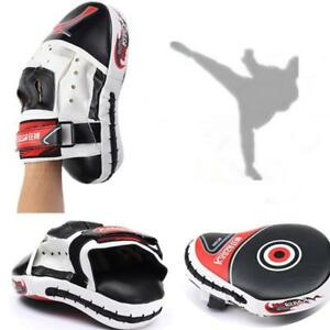 Curved-Focus-Pad-Mitts-Training-Hook-Jab-Punch-Bag-Kick-Boxing-Muay-Thai-MMA