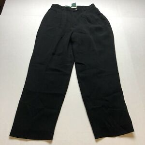 Lauren Ralph Lauren Sz 10P Black Dress Pants A2222