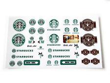 STICKERS for CUSTOM LEGO Starbucks BUILDS, Toys, Etc ( 3438 McDonald size)