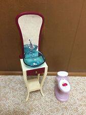Barbie Doll Fashion Fever Bathroom Vanity Sink Toilet Home Room Furniture