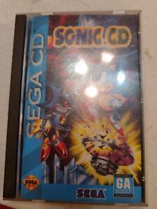 Sonic-CD-Sega-CD-Game-Complete-w-Manual-amp-Case