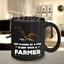 Farmer Mug drôle cowboy Cup Rancher Mug FARMER Cadeau Pour Hommes Noir Coupe