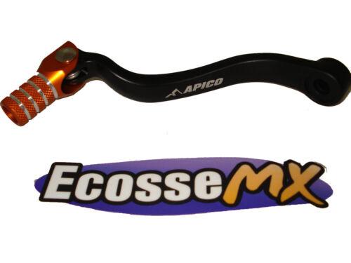 KTM SXF250 Gear Lever Pedal 2011-2012 Apico GPF520 Black//Orange