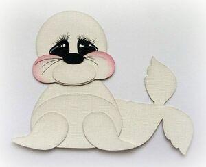 SEA-BABY-SEAL-ANIMAL-PREMADE-PAPER-PIECING-3D-DIE-CUT-MY-TEAR-BEARS-KIRA