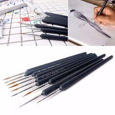 9pcs Artist Weasel Hair Brush Pen for Gouache Watercolor Paint Oil Painting Set