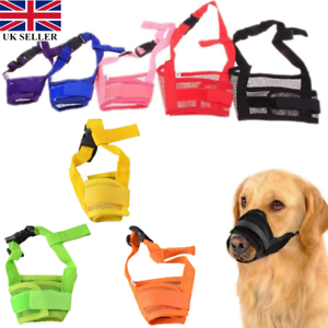 Adjustable-Pet-Dog-Puppy-Train-Anti-Bite-Mesh-Mouth-Muzzle-Mask-Size-S-2XL