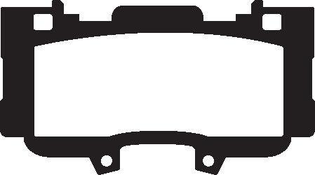 USA EBC Yellowstuff Sportbremsbeläge Vorderachse DP43042R für Ford Mustang 6