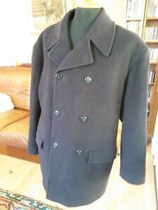 buy online df638 0e07f Dettagli su Giacca Caban Uomo Lana Nino Ferletti T48 Man Wool Reefer Jacket  Pea Coat Siz M