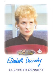 WOMEN-OF-STAR-TREK-2010-AUTOGRAPH-Elizabeth-Dennehy-as-Lt-Commander-Shelby