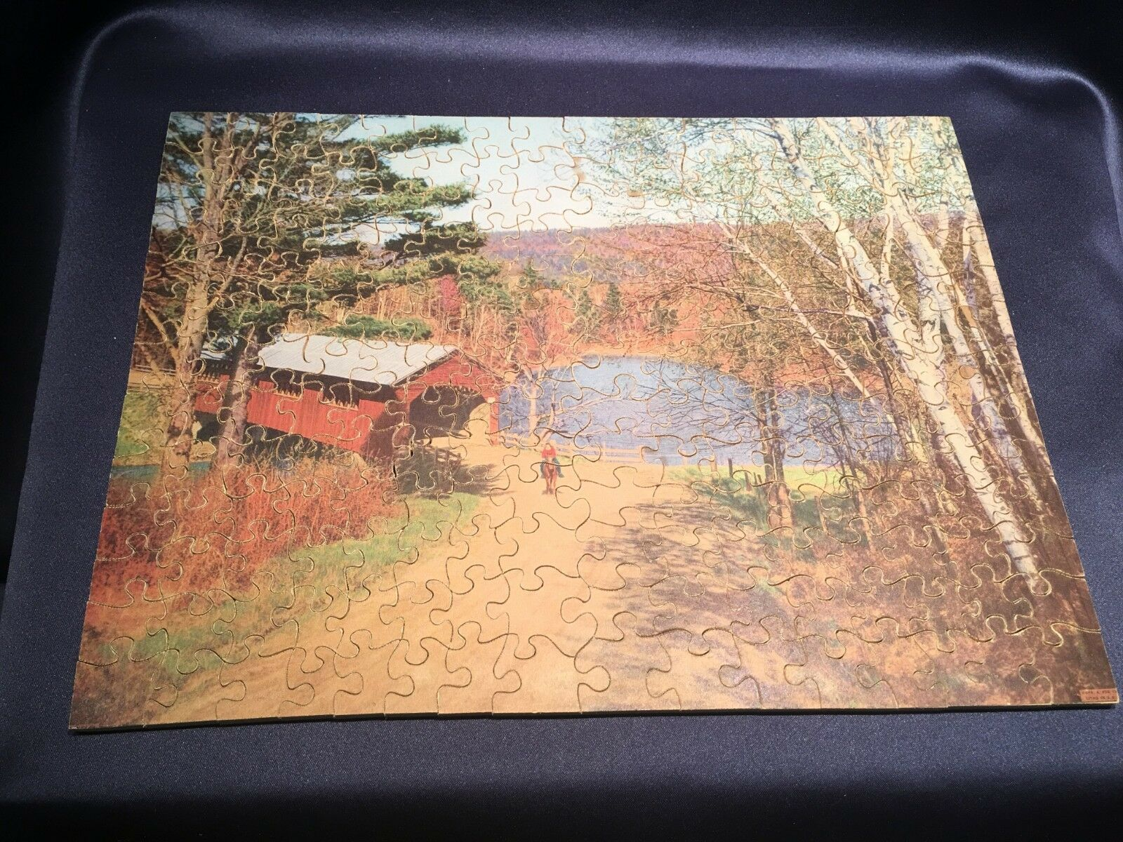 C1940 Straus Wooden Jigsaw Puzzle 200pc The Old Landmark Landmark Landmark Original Box Complete c0a509